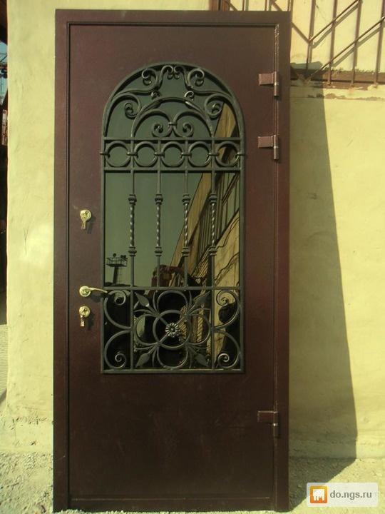 купить красивые металлические двери с ковкой