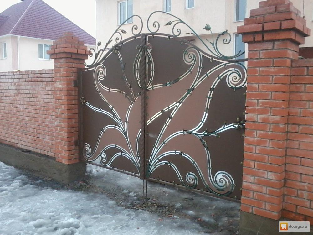 Ворота откатные в кемерово как установить столбики для забора
