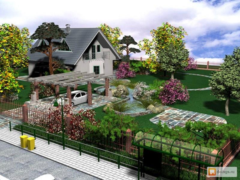 Примеры ландшафтного дизайна дома