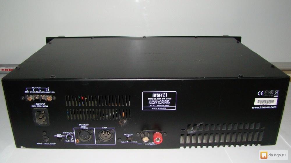 Схема inter m pa-9336