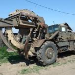Роем траншеи роторным траншеекопателем ТМК-2, Кемерово