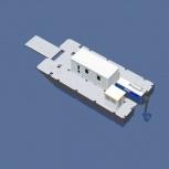 Катамаран грузопассажирский, катамаран для работ на воде, водная вахта, Кемерово
