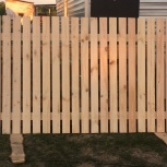 Забор деревянный (секция) из евро штакетника, Кемерово