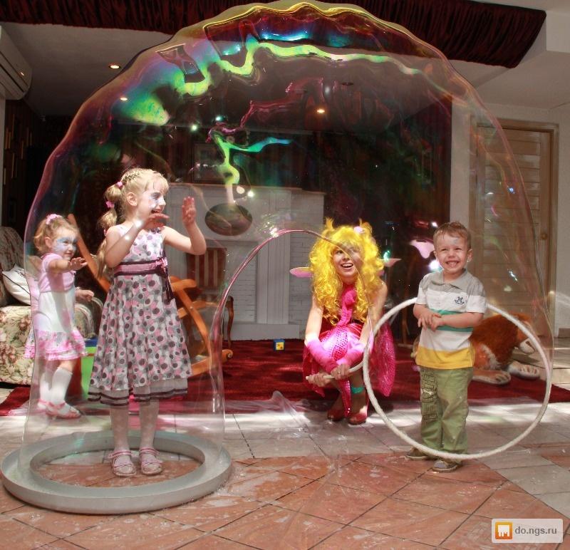 Проведение шоу мыльных пузырей